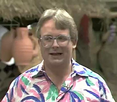 Christopher Biggins presenting On Safari in 1983 (TVS - ITV)