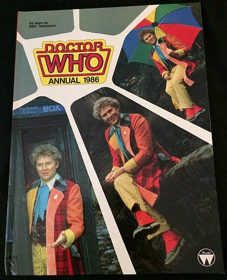 Doctor Who Annual 1986 ft. Colin Baker as the sixth Doctor