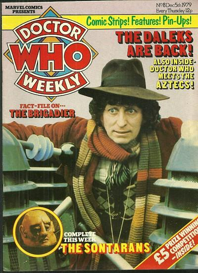 Doctor Who Weekly Dec 5th 1979 ft. fourth Doctor (Tom Baker) with the Daleks