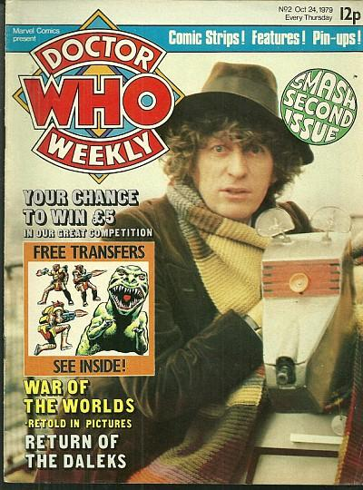Doctor WHo Weekly Oct 24 1979 - Tom Baker fourth Doctor and K.9