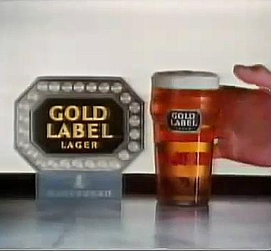 Gold Label Lager advert 1982