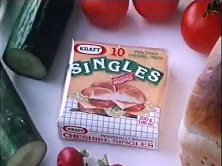 Kraft Cheese Singles 1982 advert