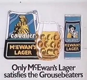 McEwan's Lager satisfies the Grousebeaters advert 1981