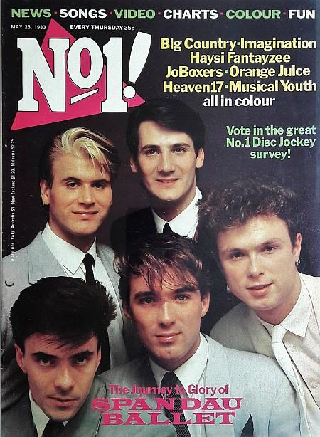 No1 Magazine May 28th 1983 ft. Spandau Ballet