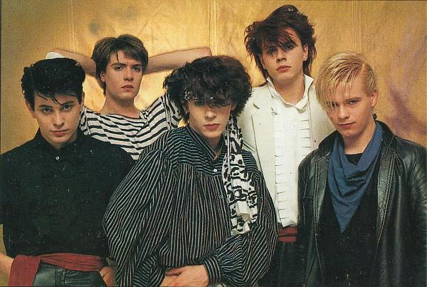Duran Duran in 1981 in new romantic clothing