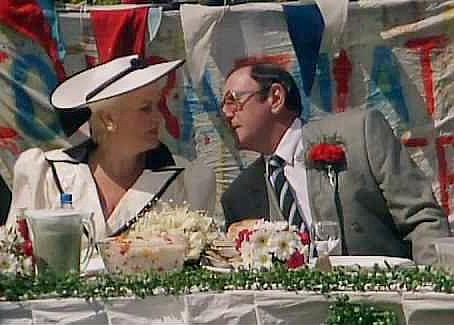 Pat and Frank Butcher's wedding party (1989) Eastenders