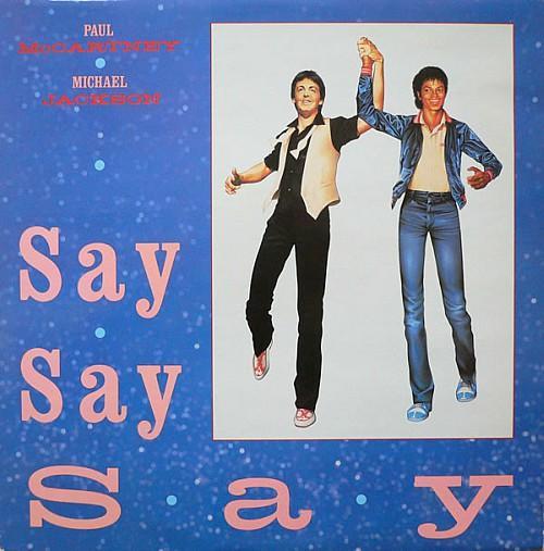 Paul McCartney and Michael Jackson Say Say Say single