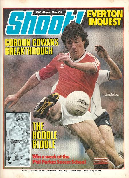 Shoot! Magazine 26th March 1983 - Gordan Cowans