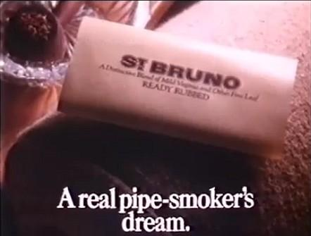 St. Bruno Tobacco - A Real Pipe Smoker's Dream - 1982 advert
