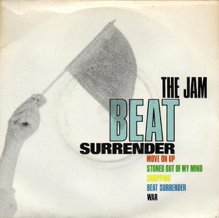 Beat Surrender double 7 inch single front sleeve (1982) The Jam