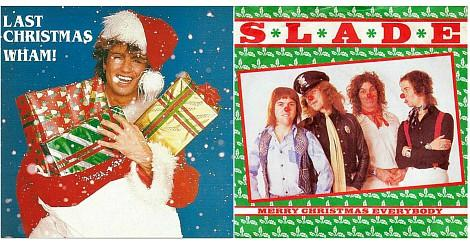 Wham Last Christmas and Slade Merry Christmas Everyone single sleeves