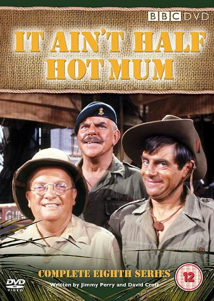 Melvyn Hayes with Don Estelle and Windsor Davis in the eight series of It Ain't Half Hot Mum