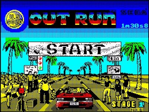 Out Run start screen on the ZX Spectrum