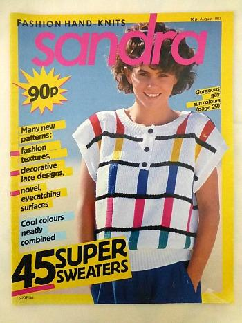 Sandra Knitting Magazine Aug 1987