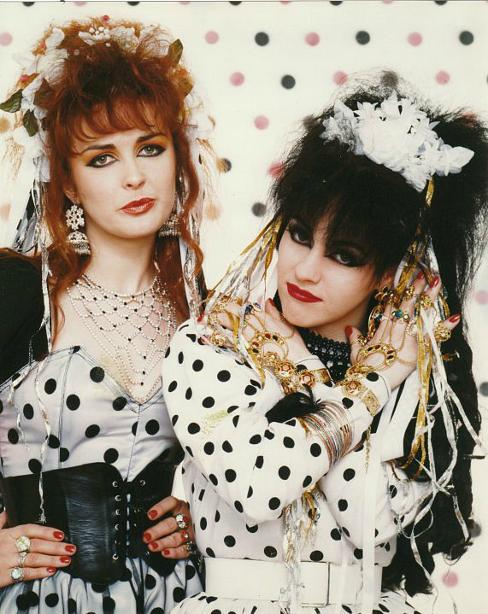 Strawberry Switchblade wearing polka dots in the 80s