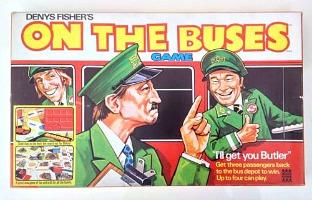 On The Buses Board Game from the 1970s