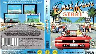 Outrun inlay card for ZX Spectrum cassette version