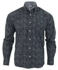 Retro Button Down Paisley Shirt
