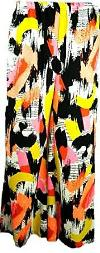 Plaqzzo Pants with Artistic Brush Strokes Design