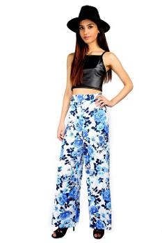 Summer Floral Palazzo Pants by Oops Outlet