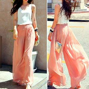 Summery Cool Peach Palazzo Pants by AtdoShop