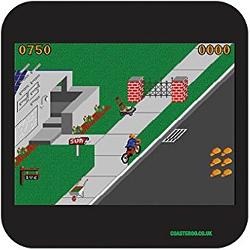 Paperboy 80s computer game drinks coaster