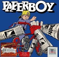 Paperboy game (1986) Apple II artwork