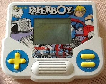 Paperboy hand-held LCD electronic game