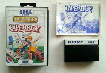 Paperboy for the Sega Master System (1986) by U.S. Gold