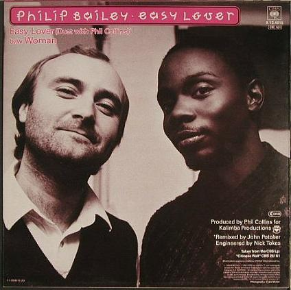 Philip Bailey & Phil Collins - Easy Lover (1984) vinyl single sleeve