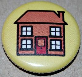 Play School House button badge