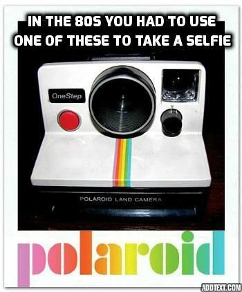 Polaroid instant camera from the 1980s
