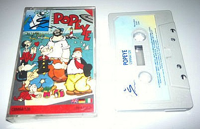 Popeye cassette game for C64