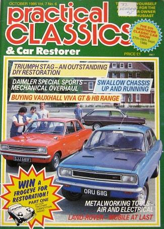 Practical Classic magazine October 1986 ft. Vauxhall Viva GT and HB range