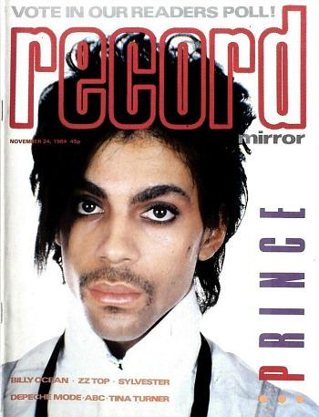 Prince on the cover of Record Mirror in November 1984