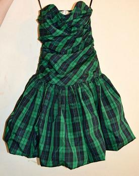 Vintage Tartan Punk Puffball Dress