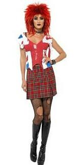 Punk Anarchist Girl Costume for Adults
