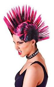 Pink Mohican/Mohawk Punk Wig for Women