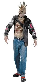 Punk Zombie Costume for Men