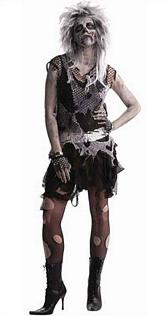 Punk Zombie Lady fancy dress costume (adults)