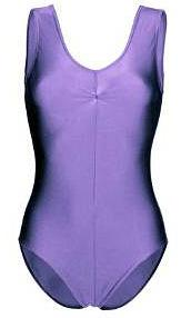 Purple Lycra 80s Leotard