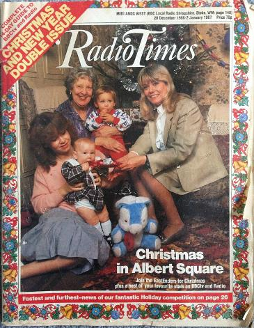 Radio Times Christmas 1986 ft. the Fowlers from Eastenders