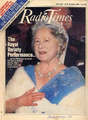 Radio Times Nov 1984 ft. The Queen Mother