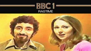 Ragtime BBC1 title card from the 70s featuring presenters Fred Harris and Maggie Henderson