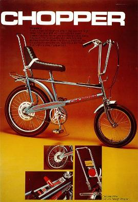 Raleigh Chopper bike 1970s advert