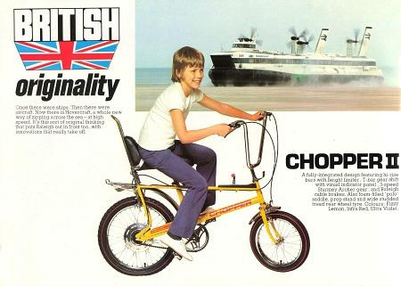Raleigh Chopper MkII Advetising Poster from the 1970s