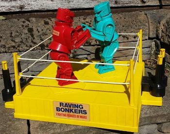 Raving Bonkers fighting robots toy (1970s)