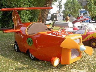 Real life version of The Crimson Haybailer from Wacky Races