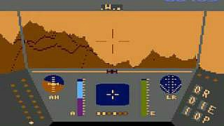 Rescue On Fractalus screenshot Atari 800XL