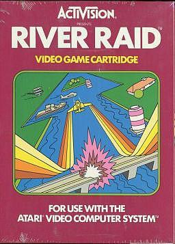 River Raid game cartridge for the Atari 2600 by Activision